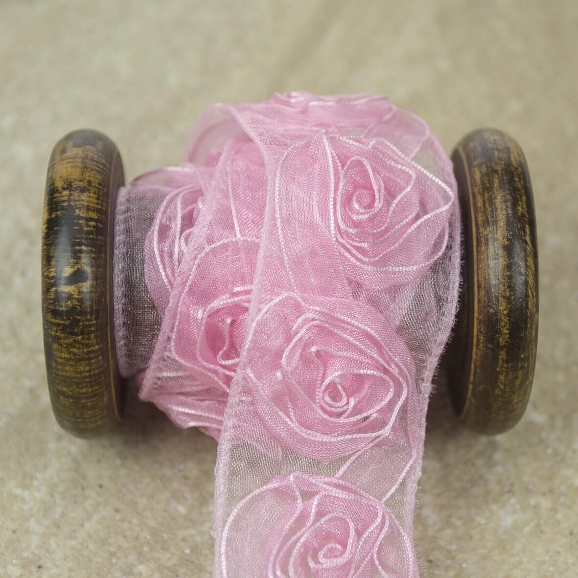 Pink Ribbon Rose Trim