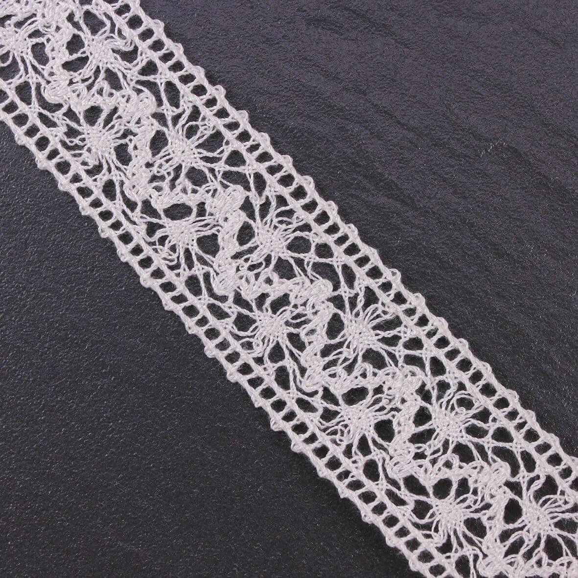 Wide Ivory Crochet Lace