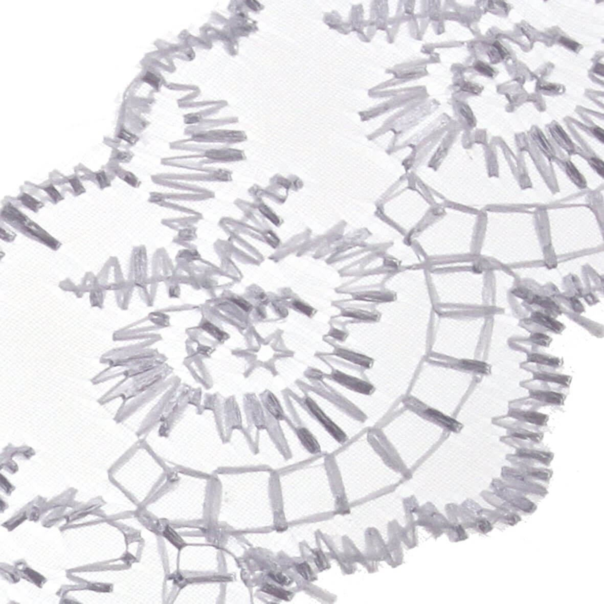 45mm White Scalloped Lace - Zoom