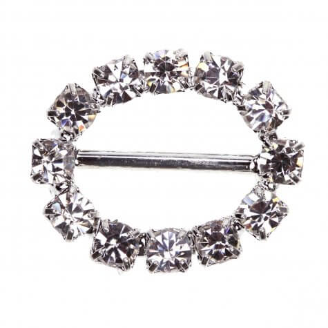 Small Oval Diamante Buckle