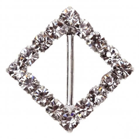'Diamond Square' Diamante Buckle (Small)