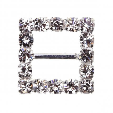 Square Diamante Buckle (Small)