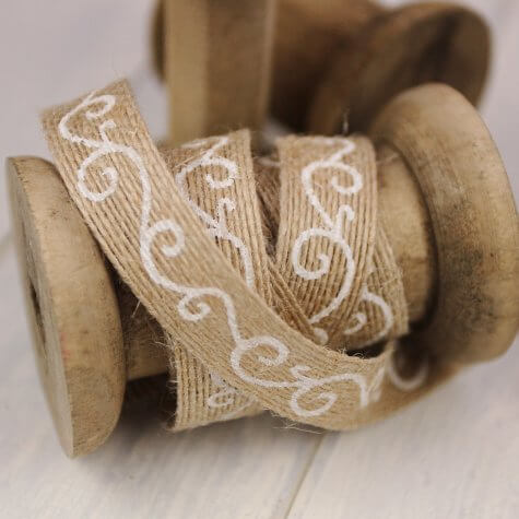 Printed Hessian 15mm - Filigree