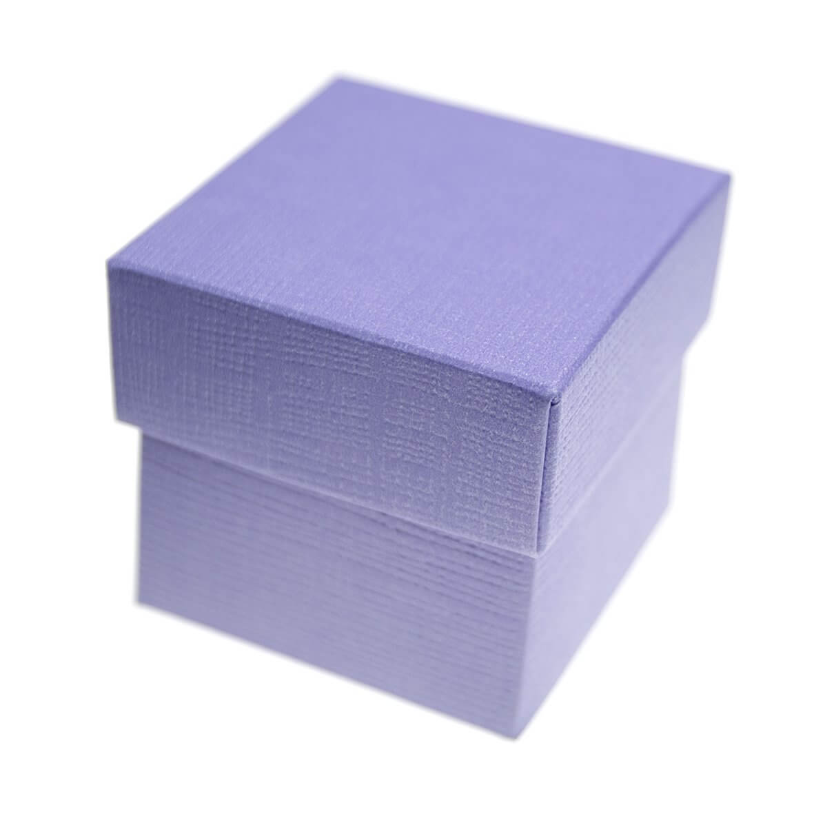 Lilac Silk Square Favour Box (Pack of 10)