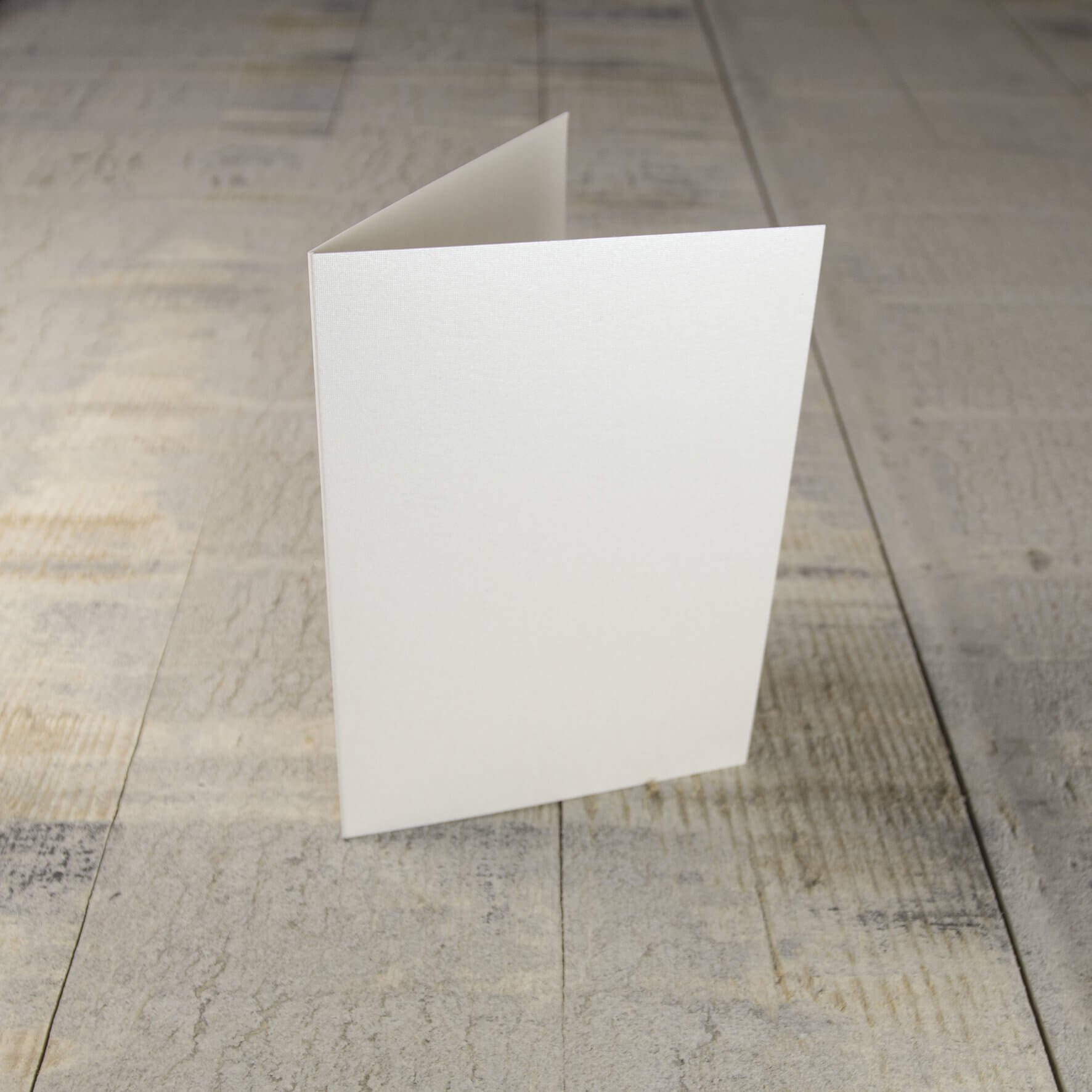 Creased Card C6 - Pearlescent Ivory