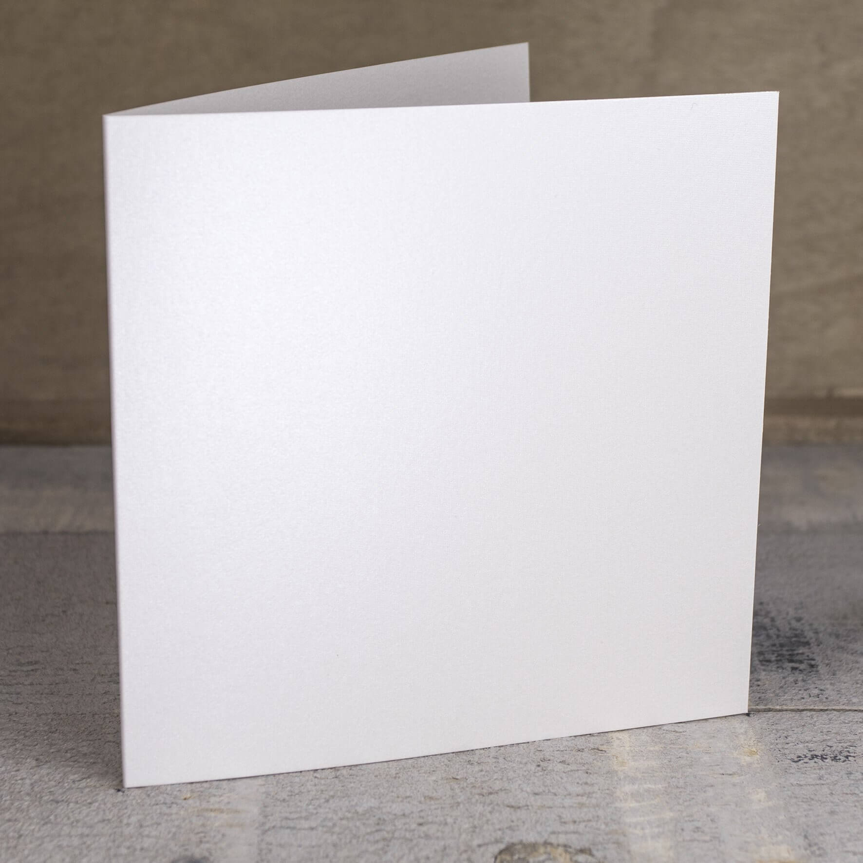 Creased Card Large Square - Pearlescent Ivory