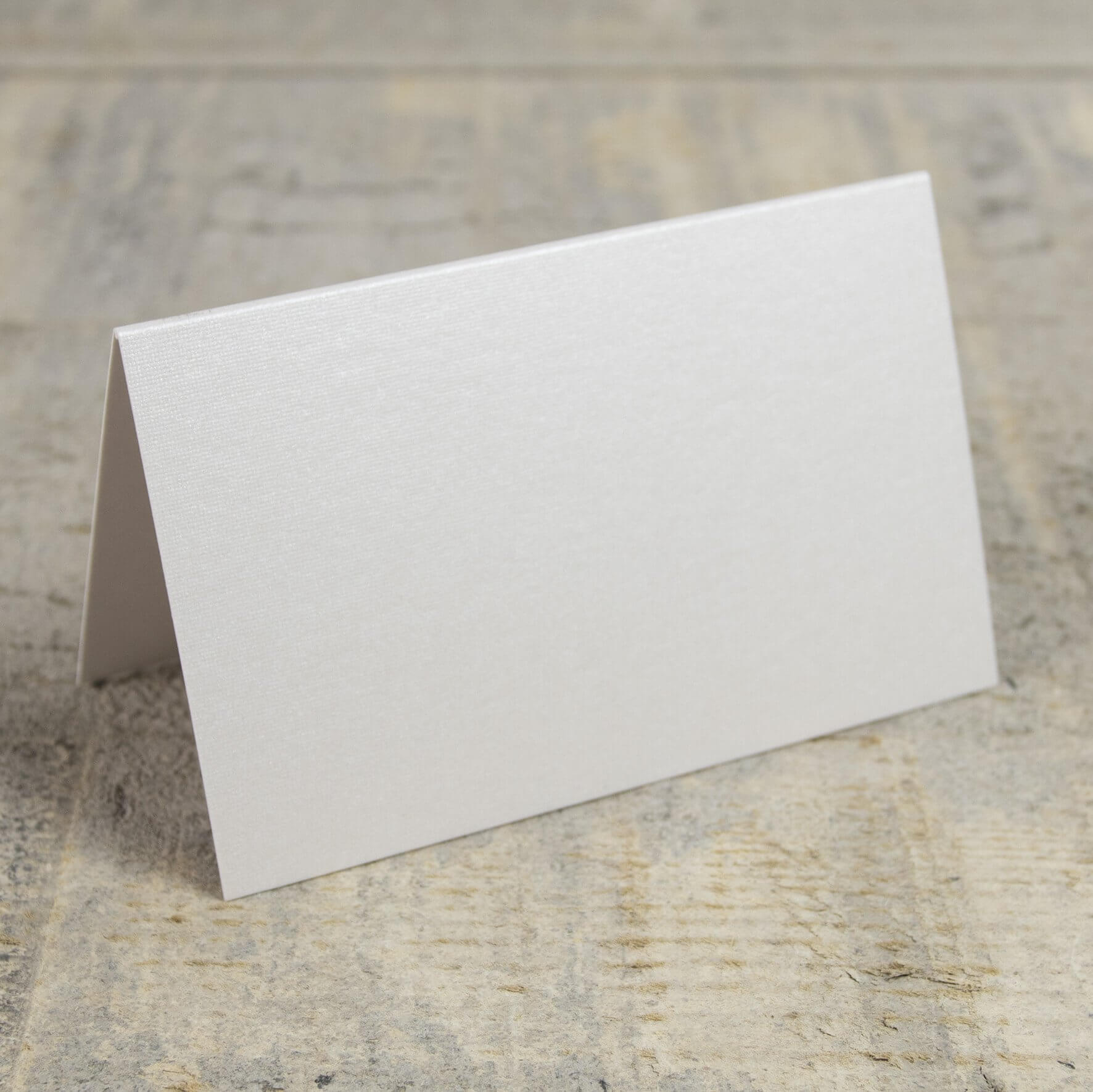 Creased Card Place Card - Pearlescent Ivory