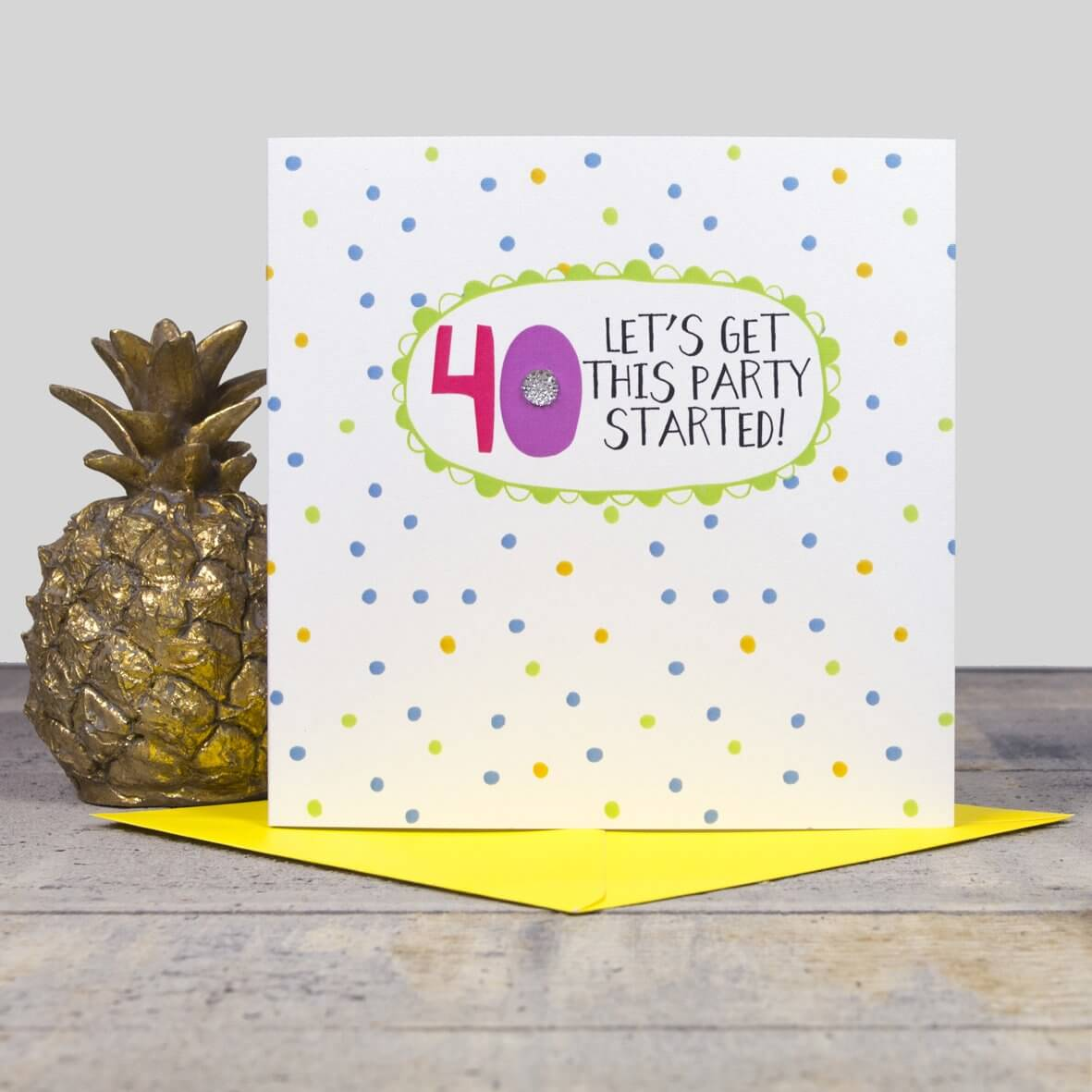 40th Birthday Card - Lets get this party started