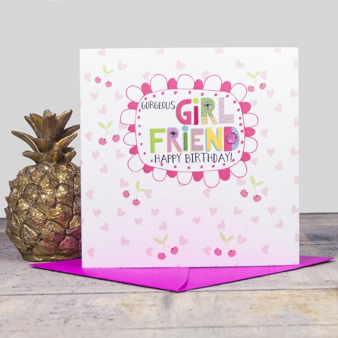 Gorgeous Girlfriend - Happy Birthday Card