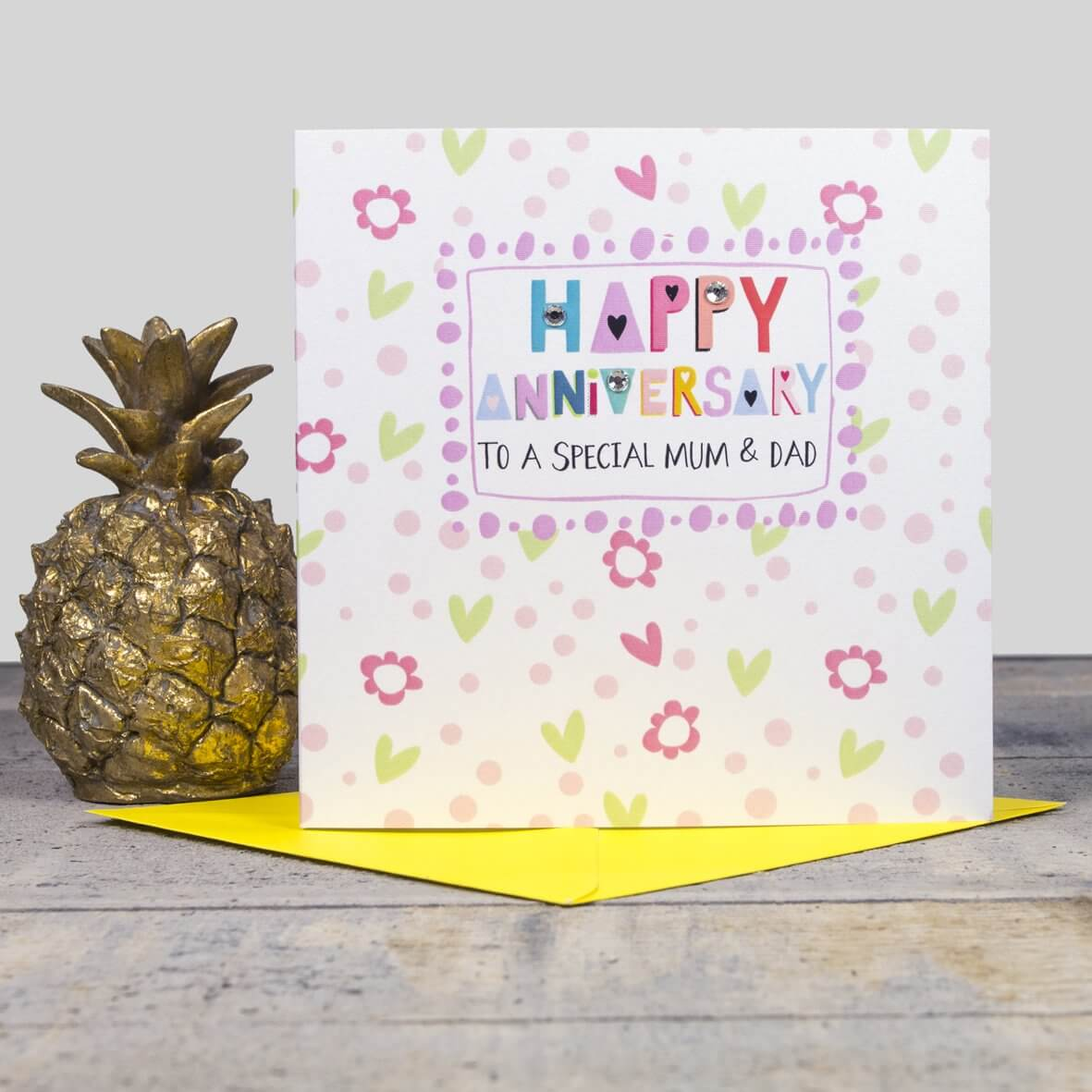 Happy Anniversary Card - Mum and Dad