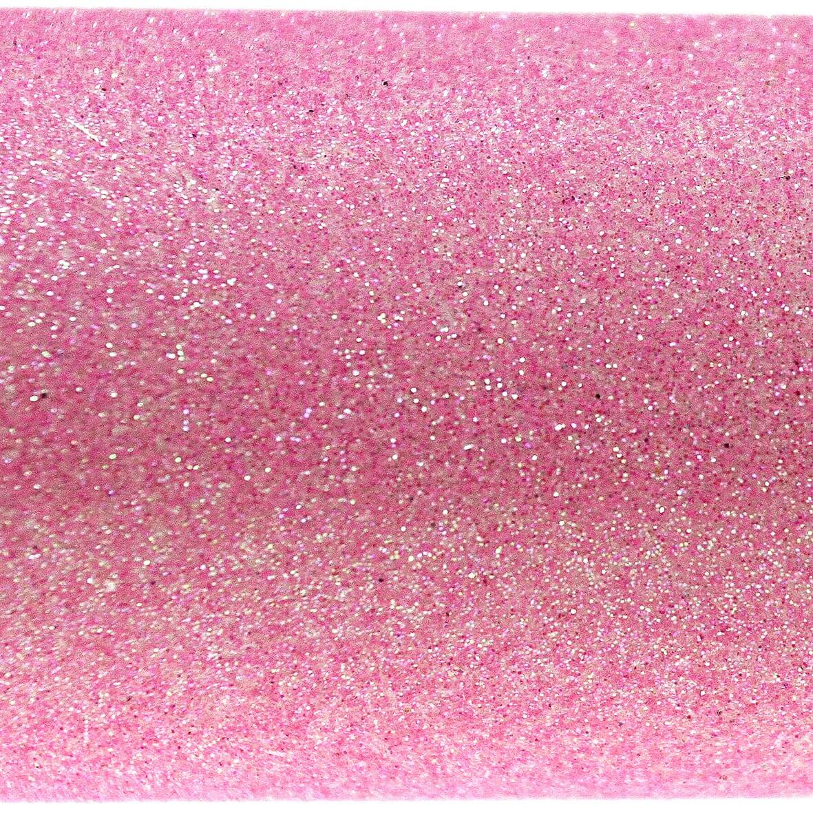 Iridescent Sugar Pink A4 Glitter Paper - Close Up