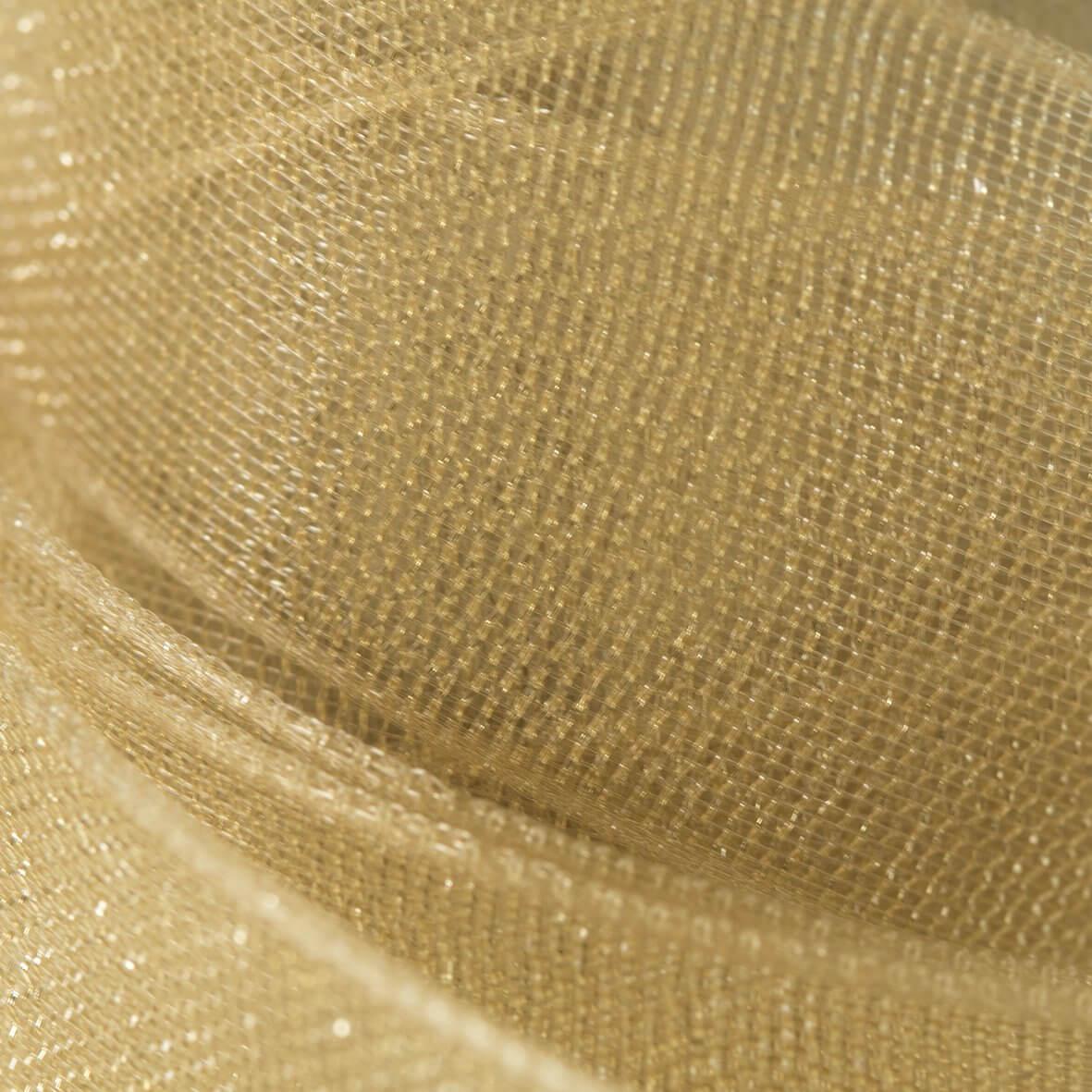 Gold Organza Ribbon 10mm from Club Green - Swatch