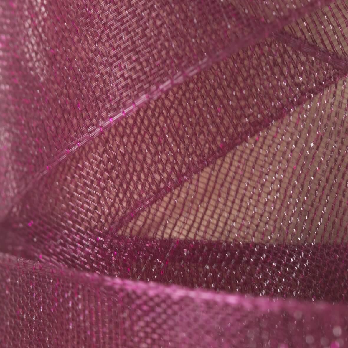 Burgundy Organza Ribbon 38mm from Club Green - Swatch