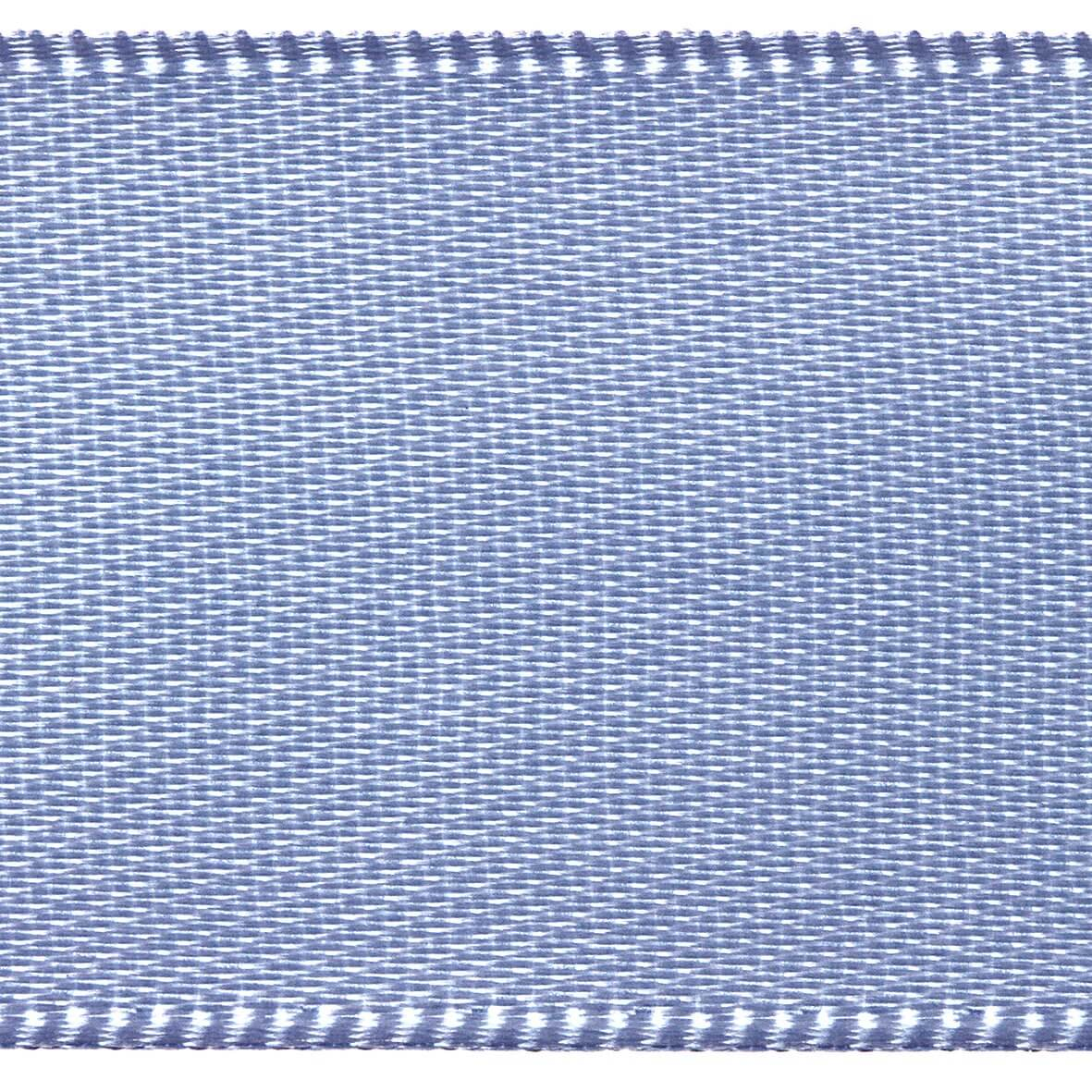 Wedgwood Blue Club Green 15mm Double Faced Satin Ribbon