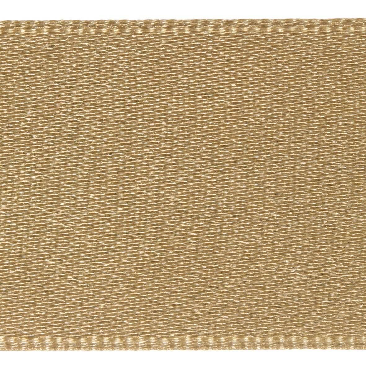 15mm Berisfords Satin Ribbon - Straw Colour 6835