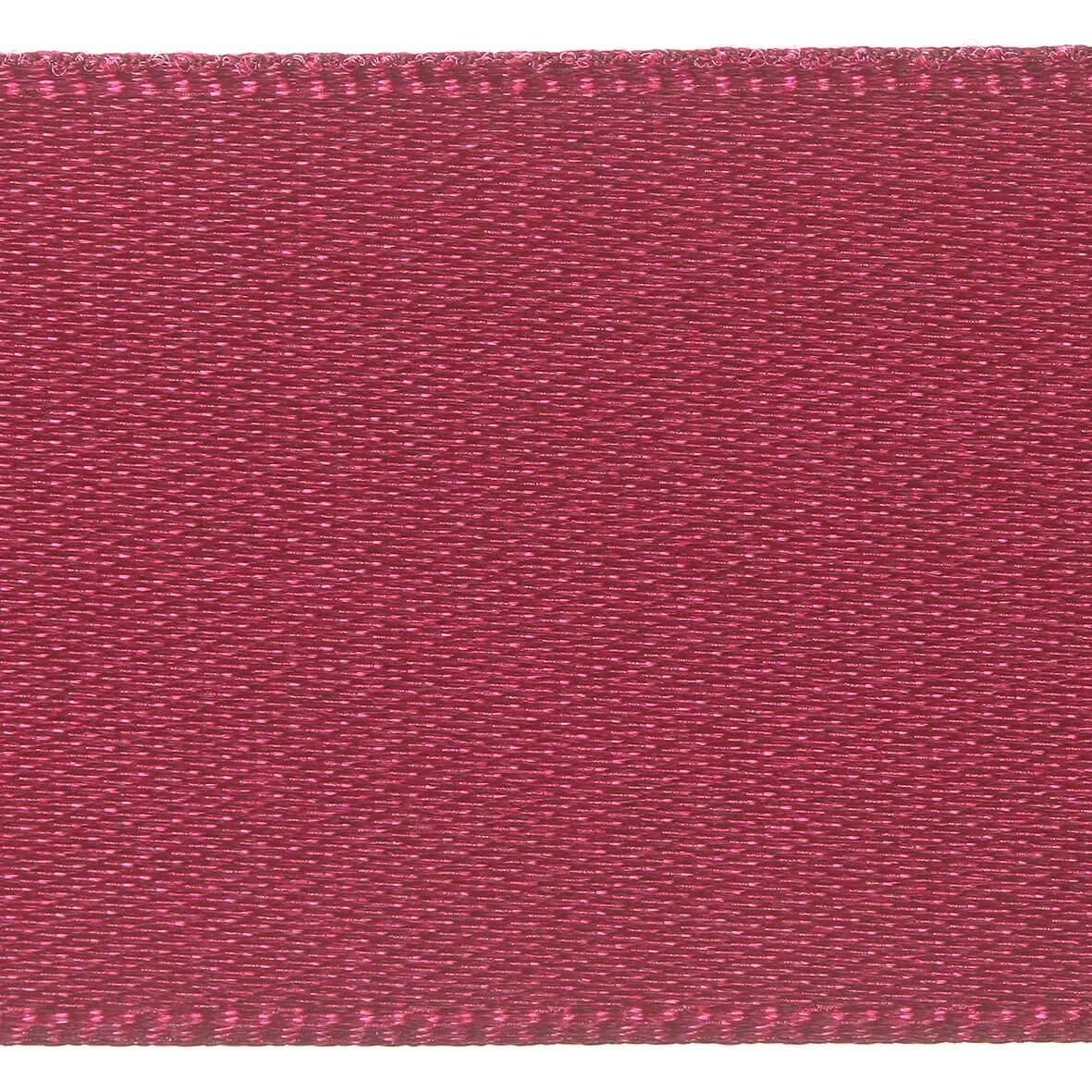 25mm Berisfords Satin Ribbon - Burgundy Colour 405