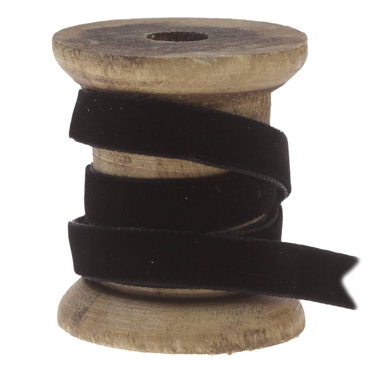 9mm Velvet Ribbon - Colour 9725 (Black) - Display Reel