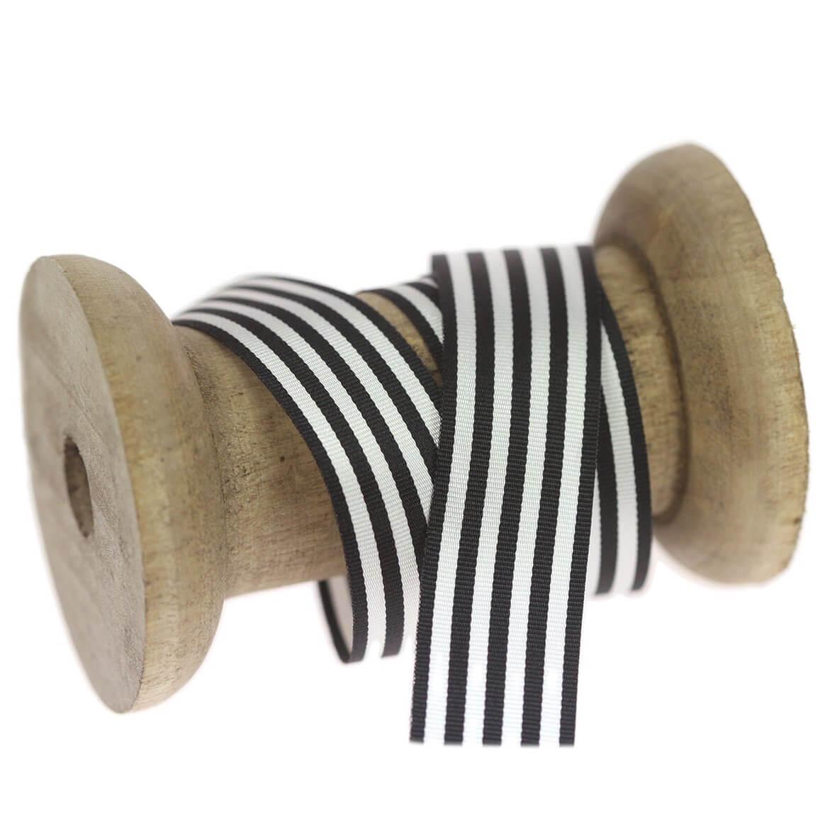 16mm Black Colour 142 Stripes Ribbon - Reel