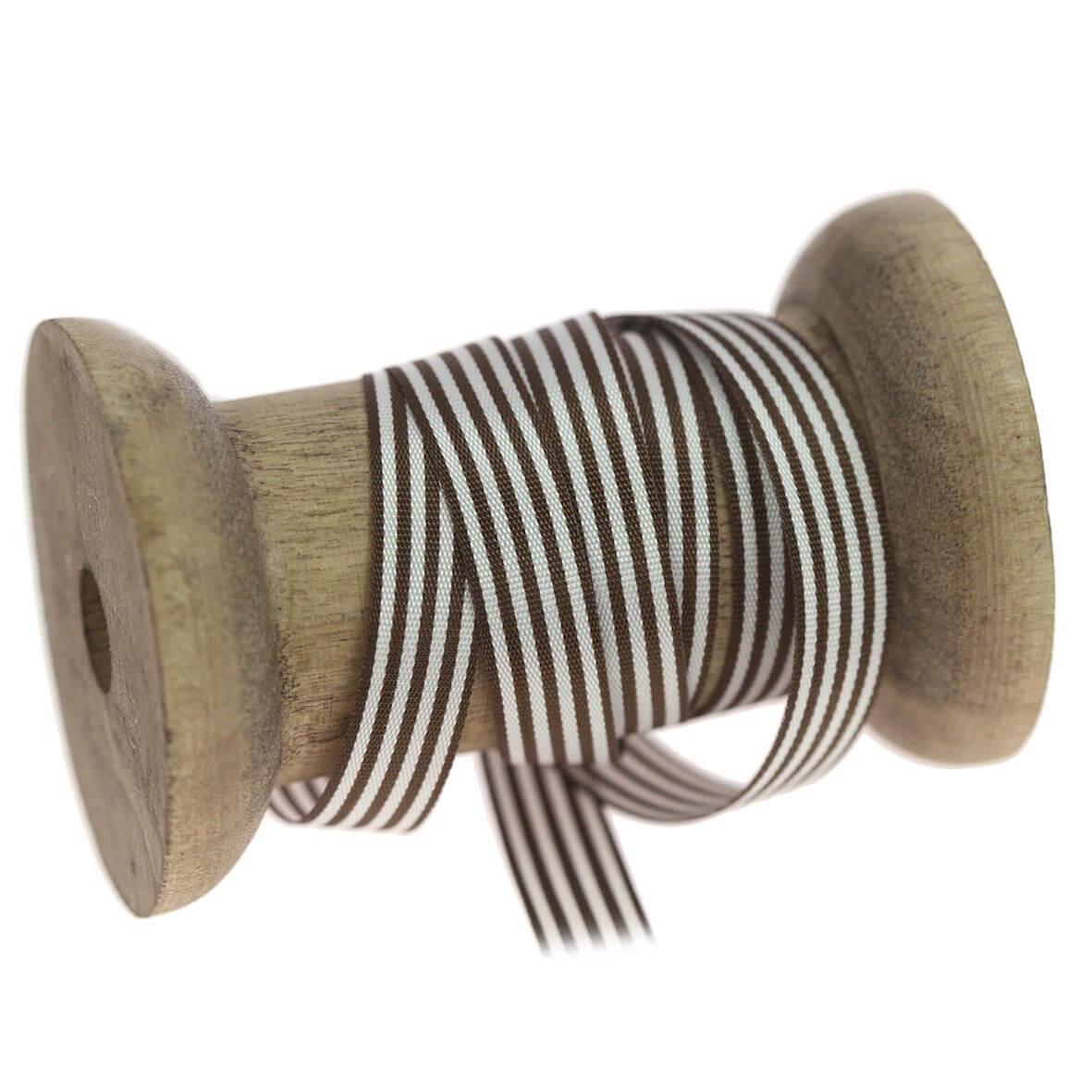 9mm Brown Colour 4003 Stripes Ribbon