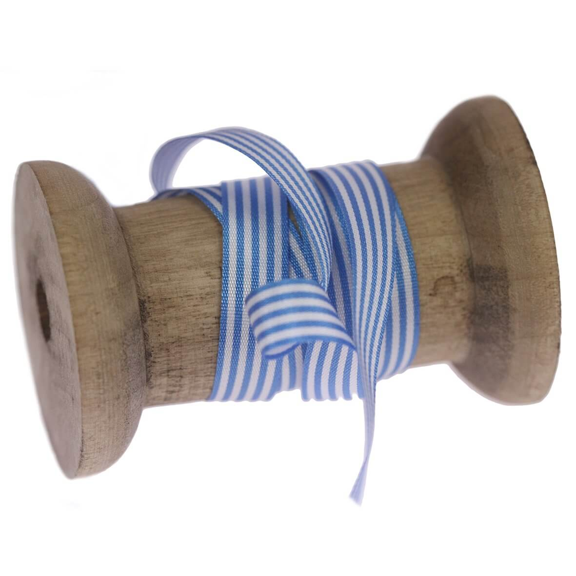 9mm Peacock Colour 111 Stripes Ribbon - Reel
