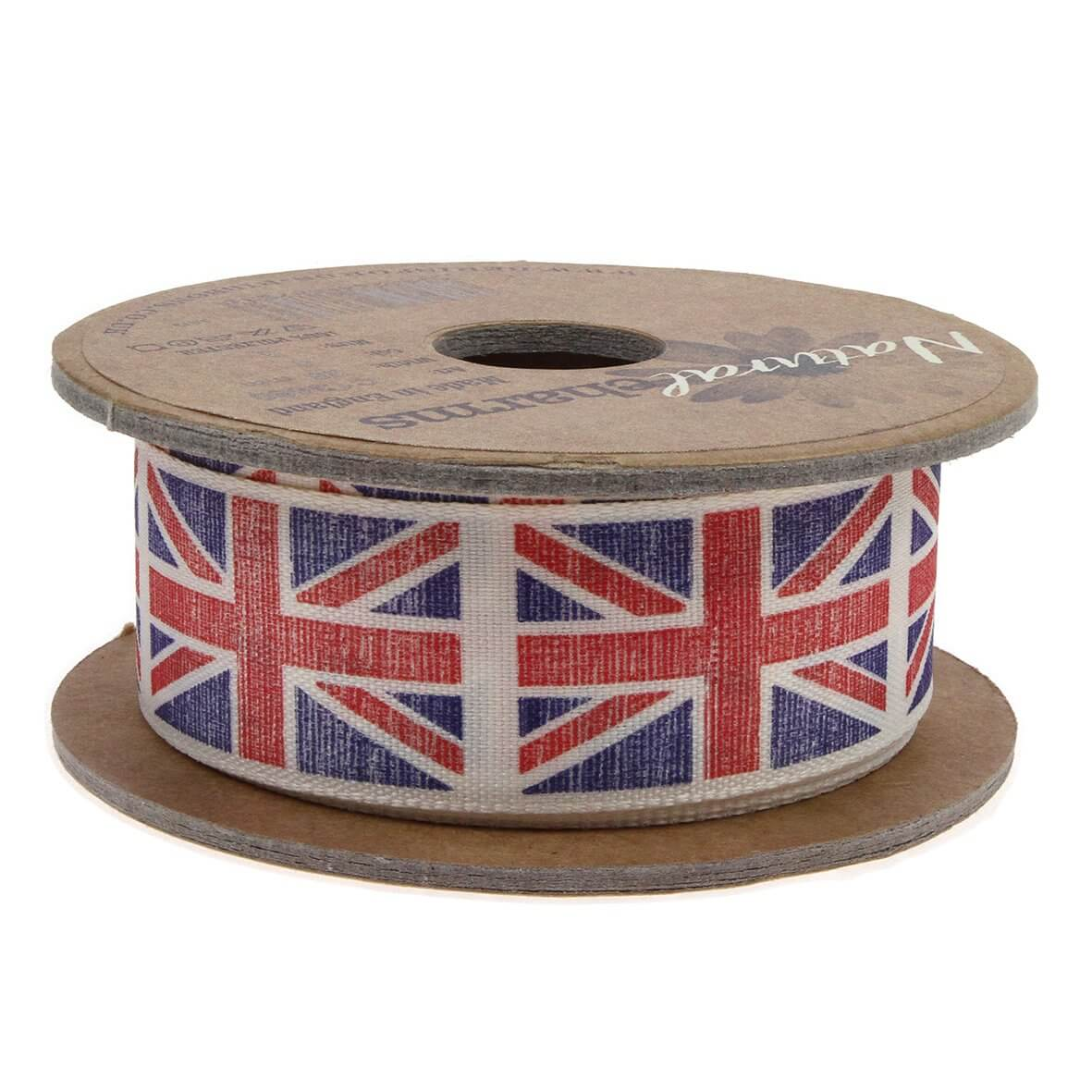 3m reel 25mm Union Jack (Navy/Red) Colour 4 - Reel