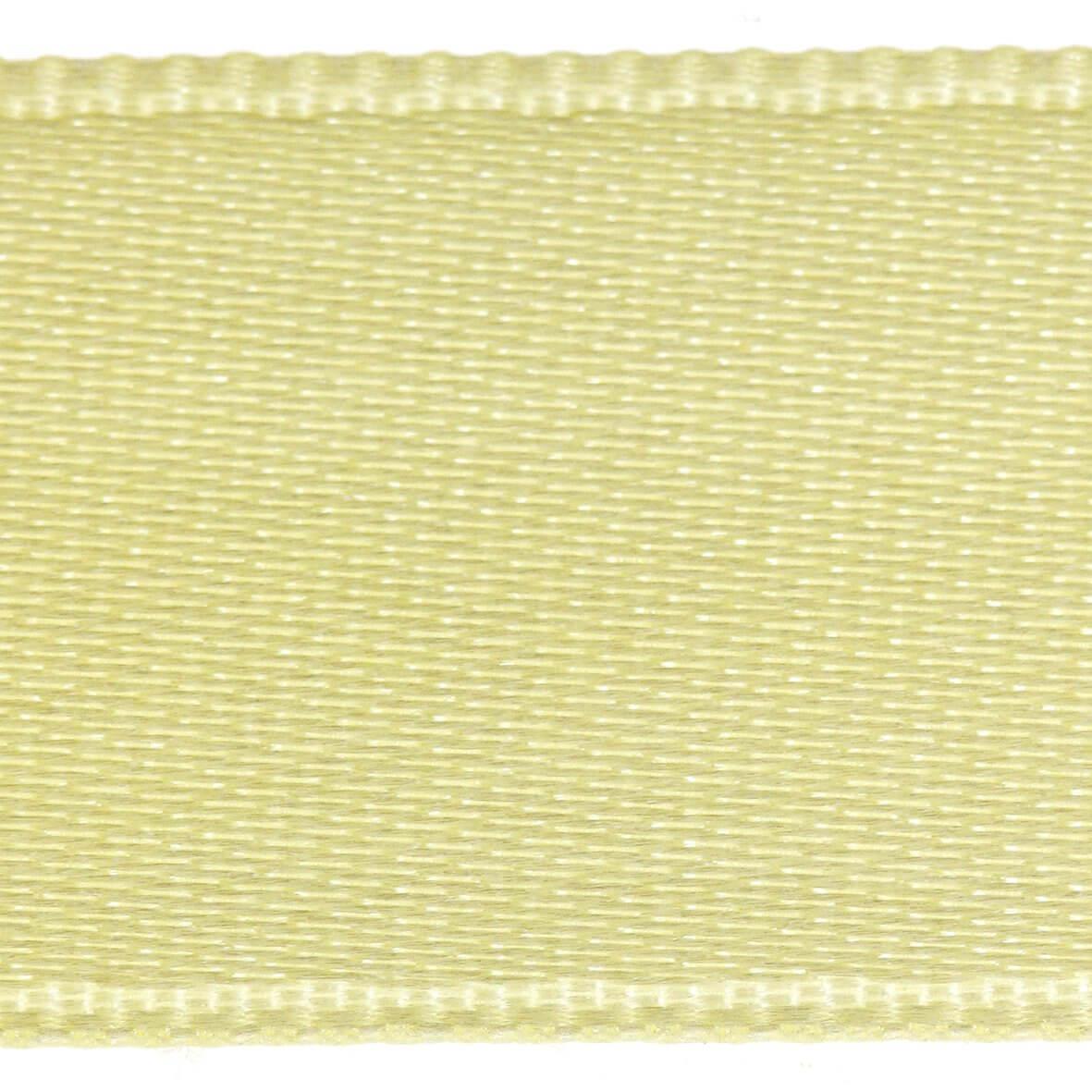 Pale Lemon Col. 217 - 15mm Satab Satin Ribbon