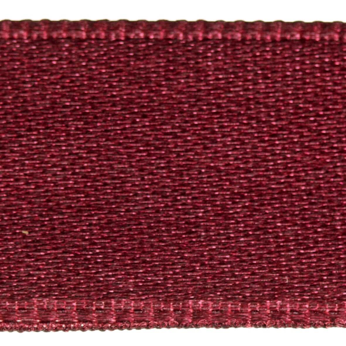 Dark Burgundy Col. 385 - 25mm Satab Satin Ribbon