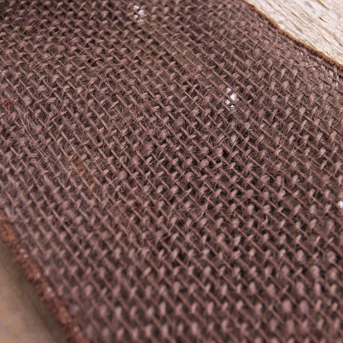 Wired Edge 100mm Hessian - Brown