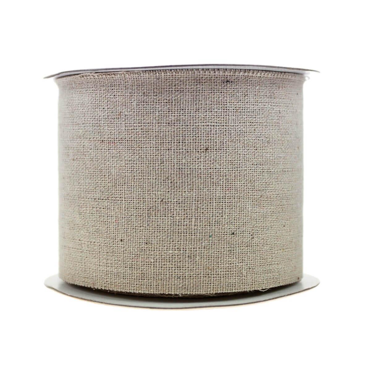 Frayed Edge 70mm Burlap Ribbon - Natural Linen