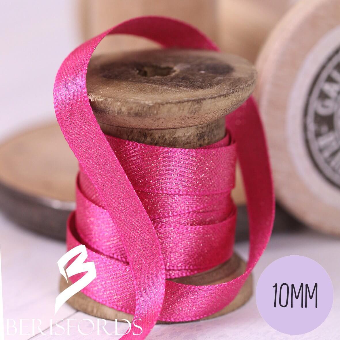 Berisfords Glitter Satin Ribbon 10mm