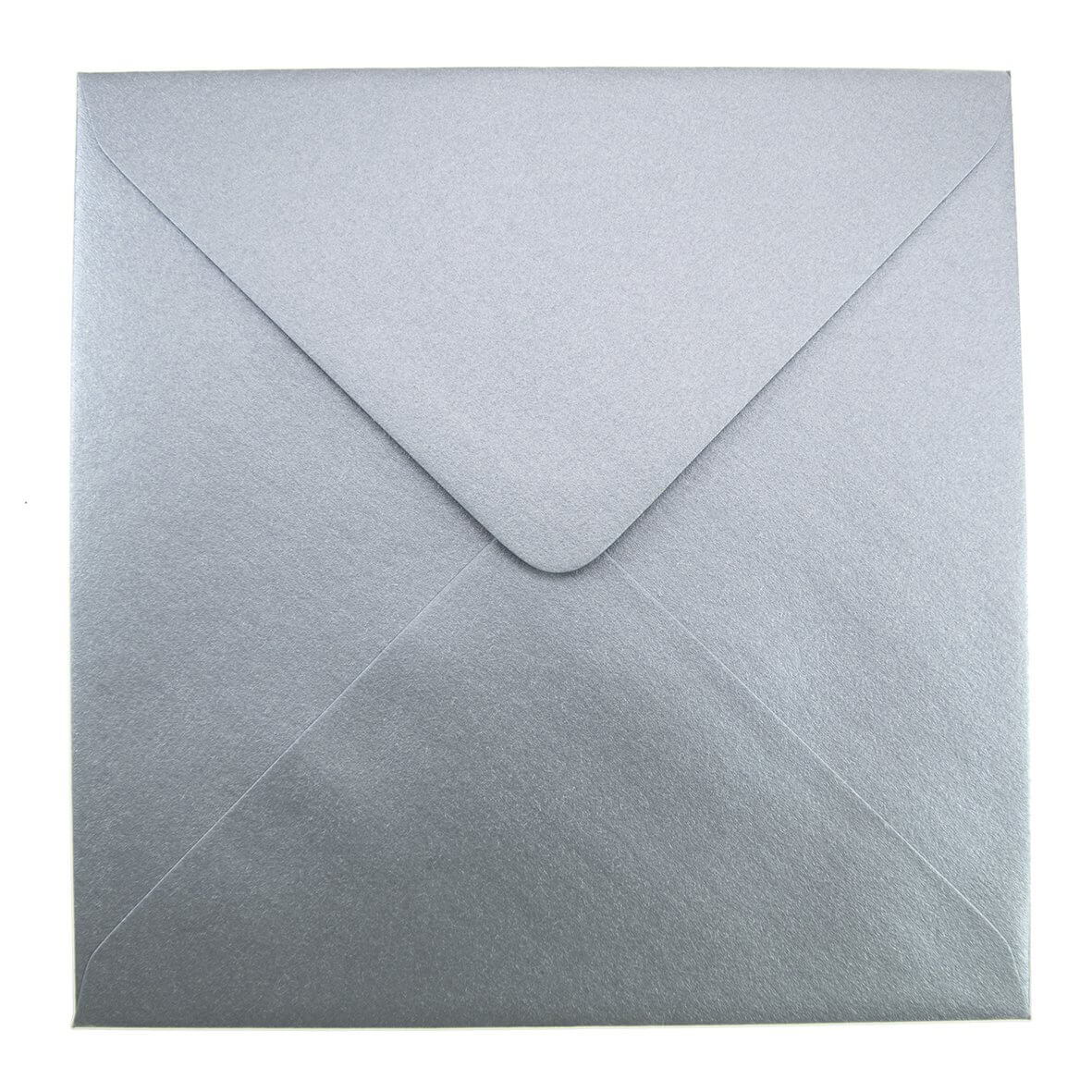 Soft Sheen Silver Large Square 155mm Envelope