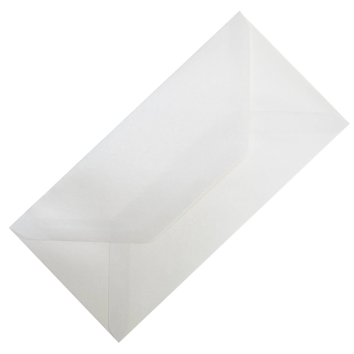 Pearlescent Ivory DL Envelope Large Tall - Zoom