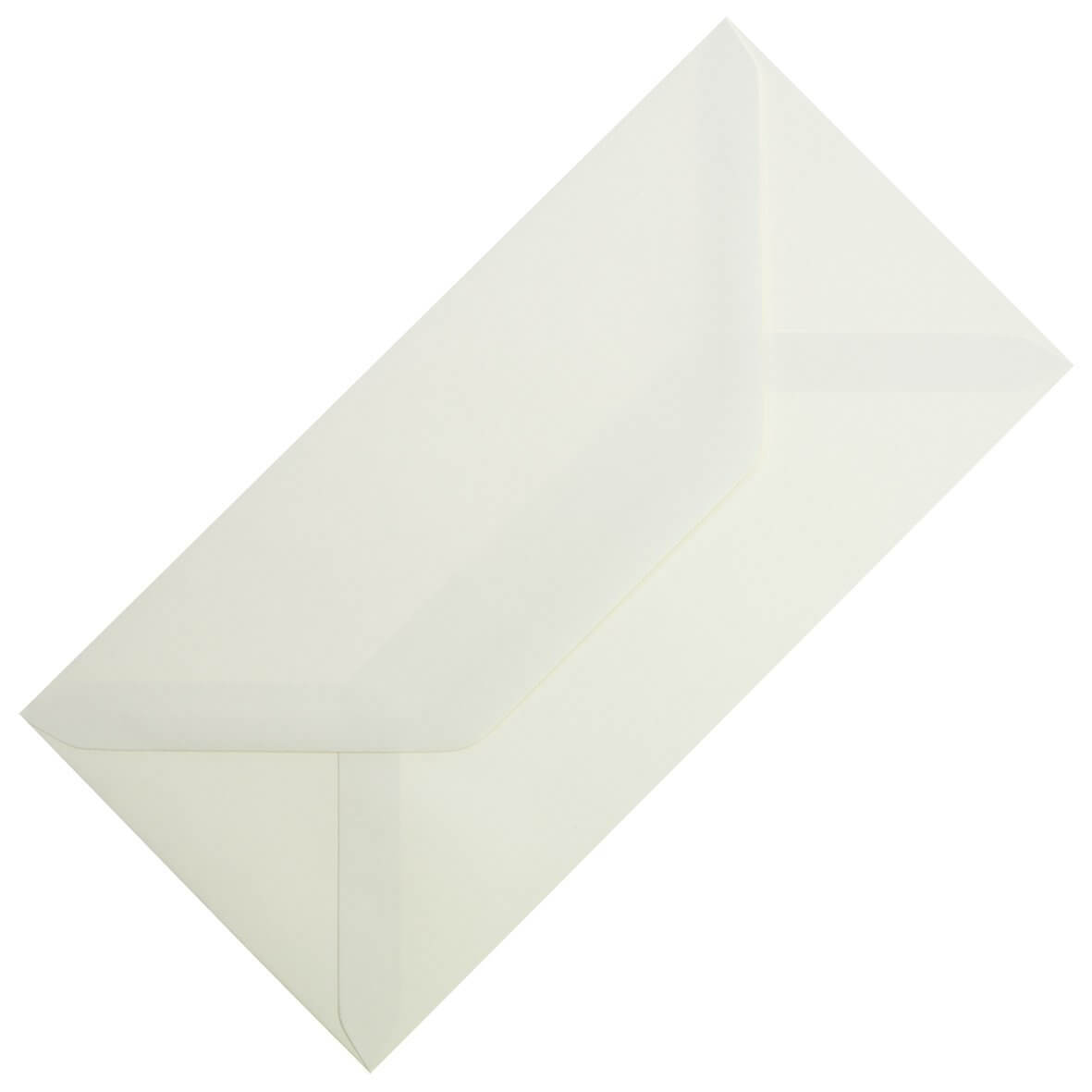 Ivory Sparkle DL Envelope Large Tall