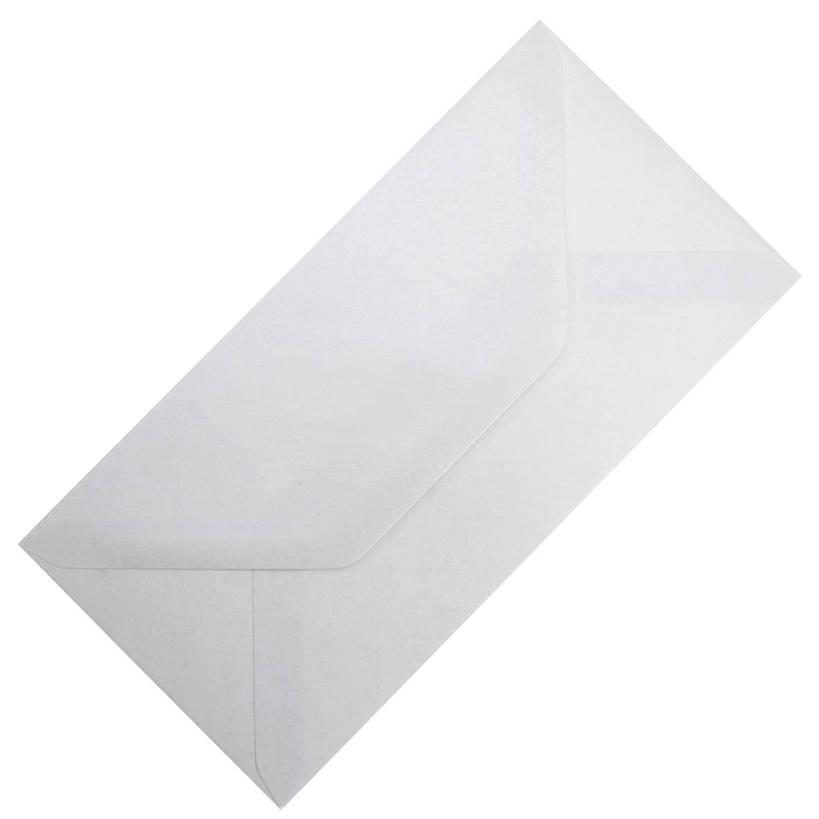 Crystal White DL Envelope Large Tall