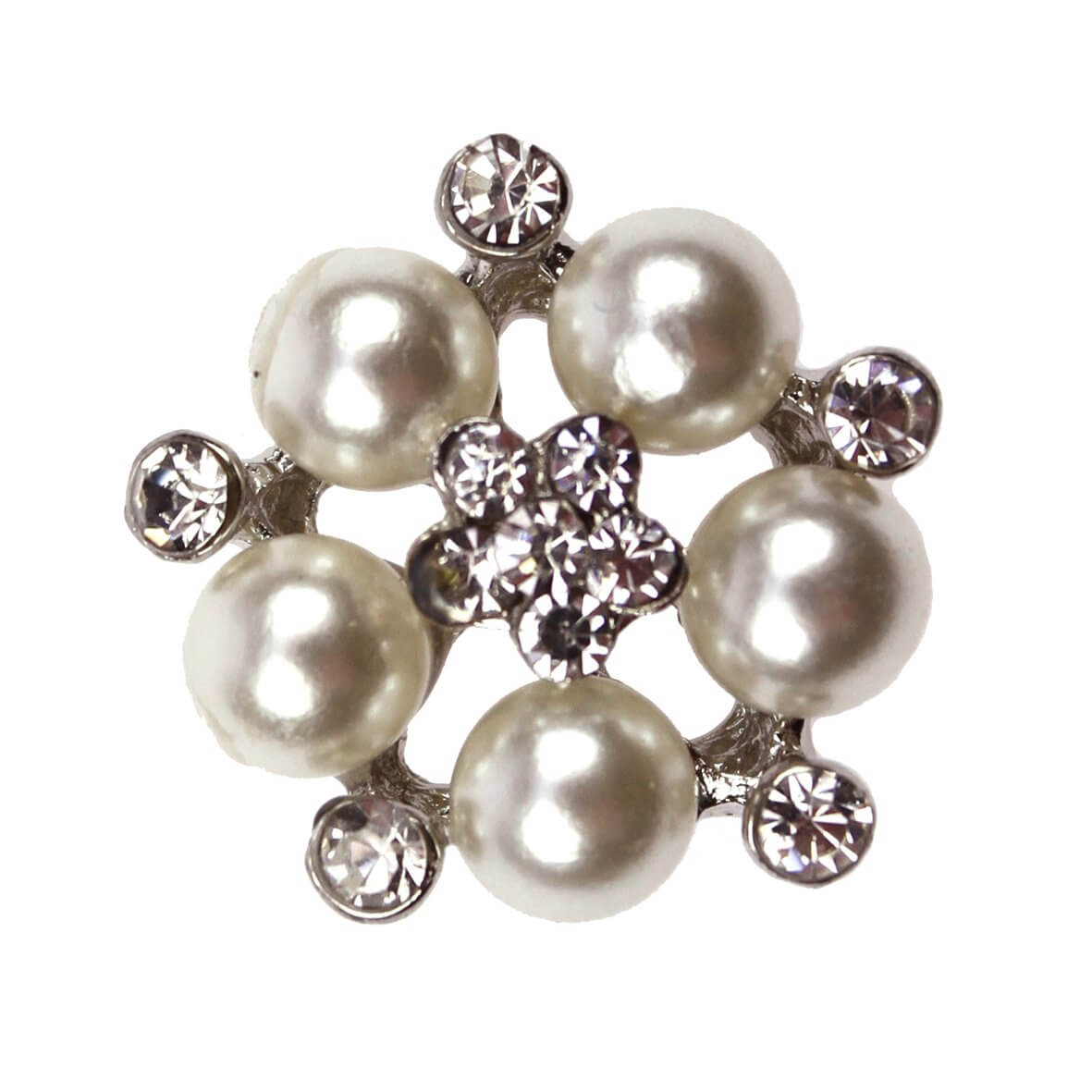 Pelegrina Central Diamante and Pearl Embellishment