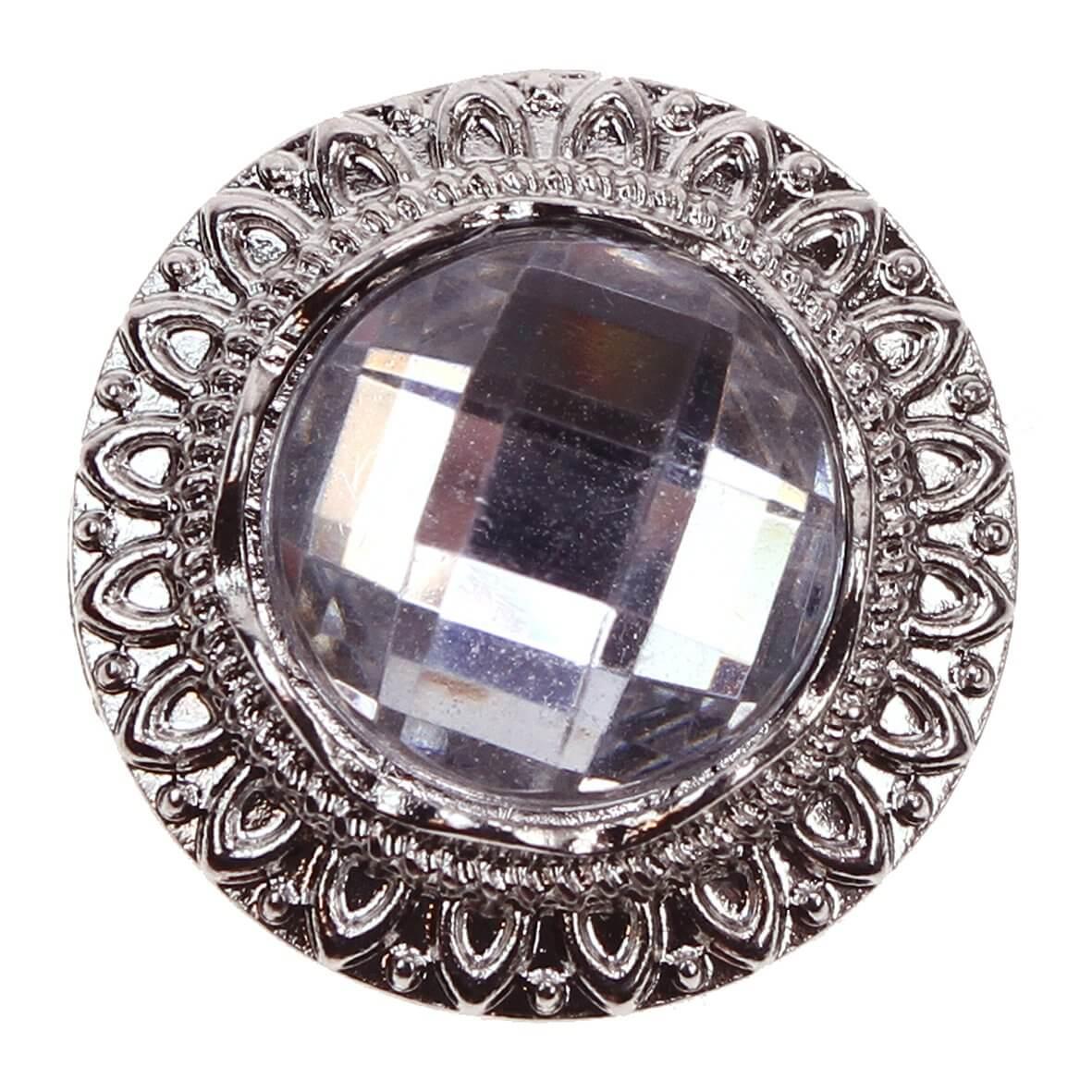 Lima Circular Diamante Embellishment with metal rim