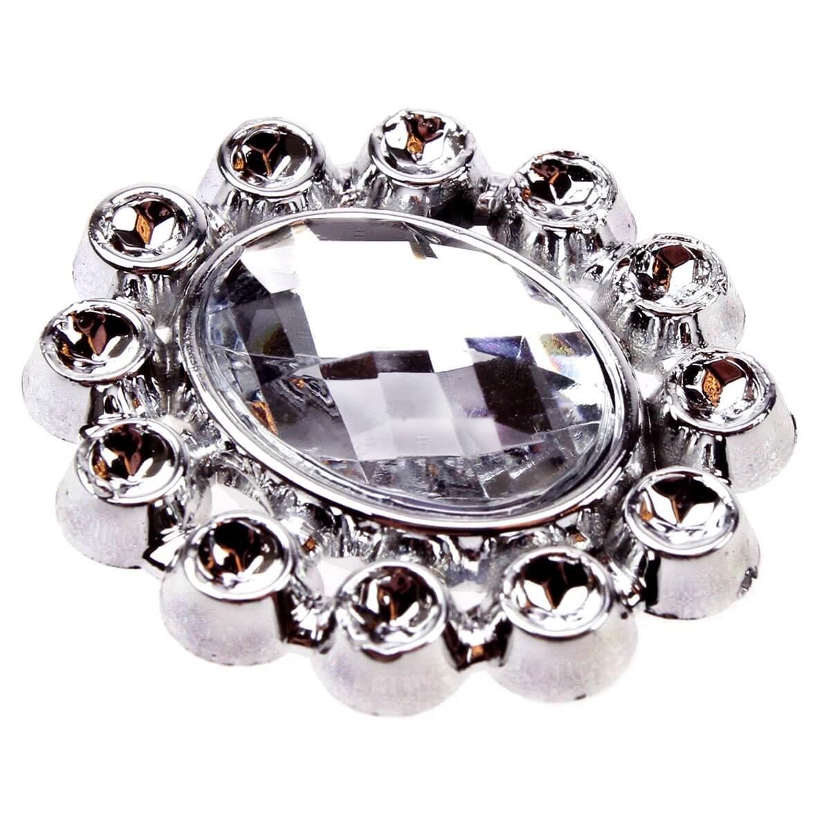 Diamante Faux Gem Oval Embellishment