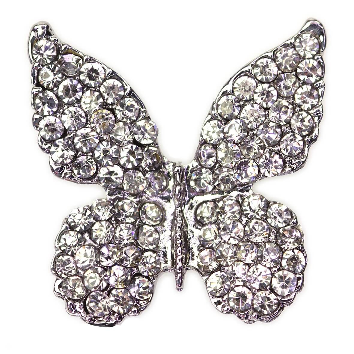 Fritillary Diamante Butterfly Embellishment