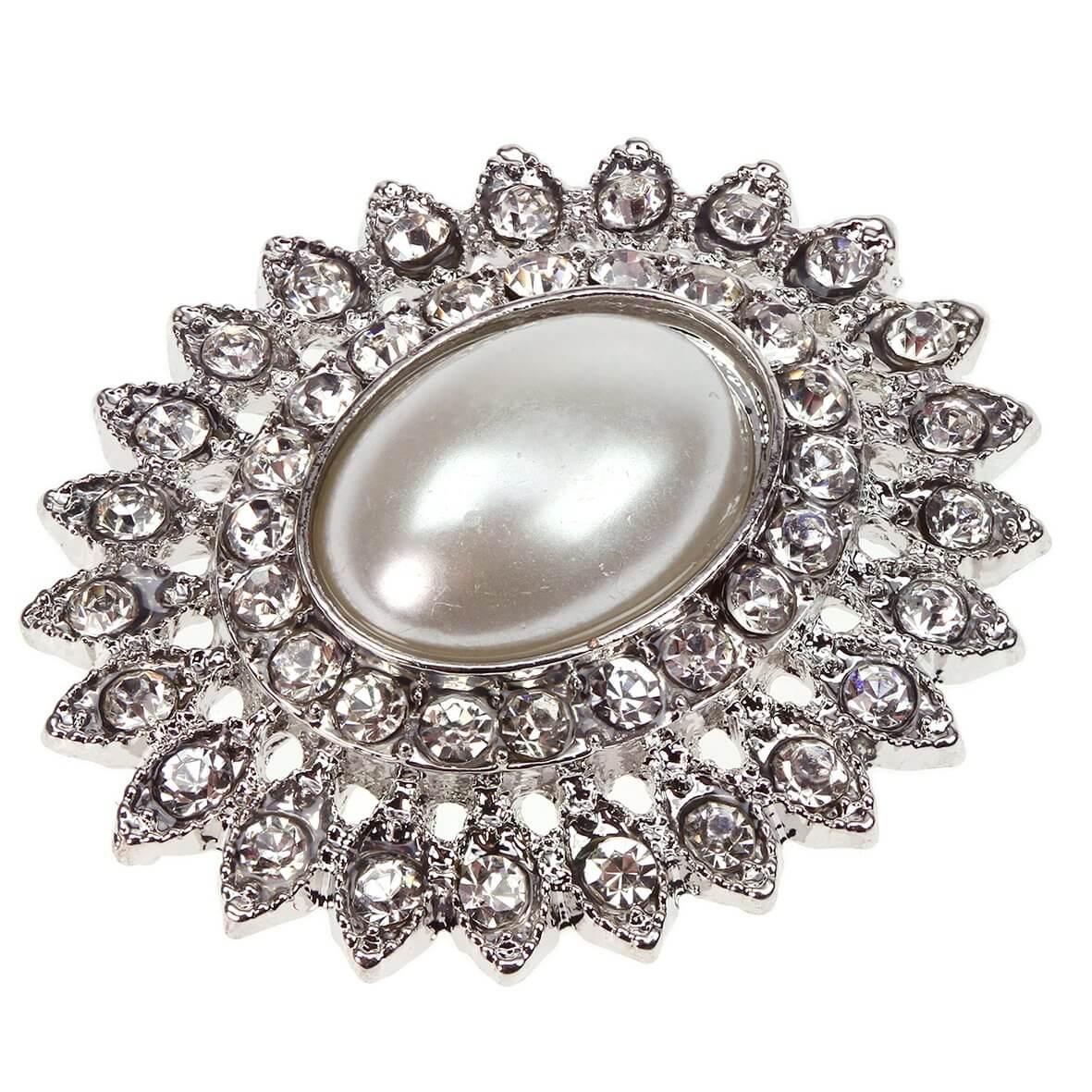 Silver Tesoro Diamante and Pearl Embellishment
