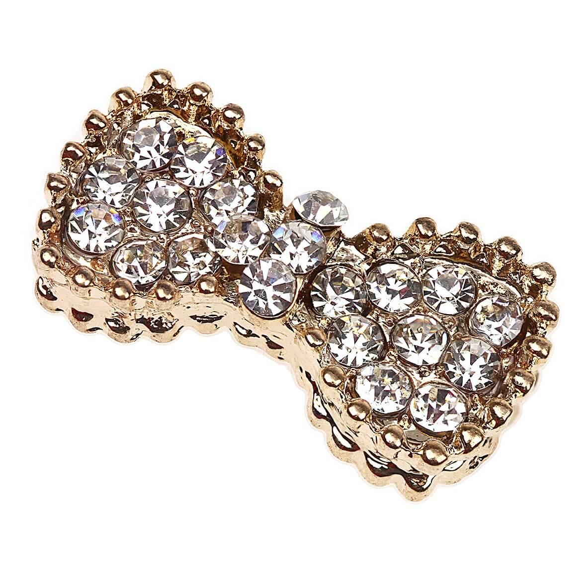 Gold Vivienne Bow Diamante Embellishment