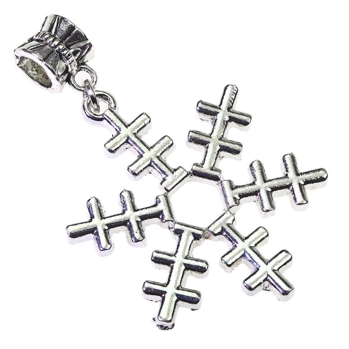 Snowflake Charm - Side View