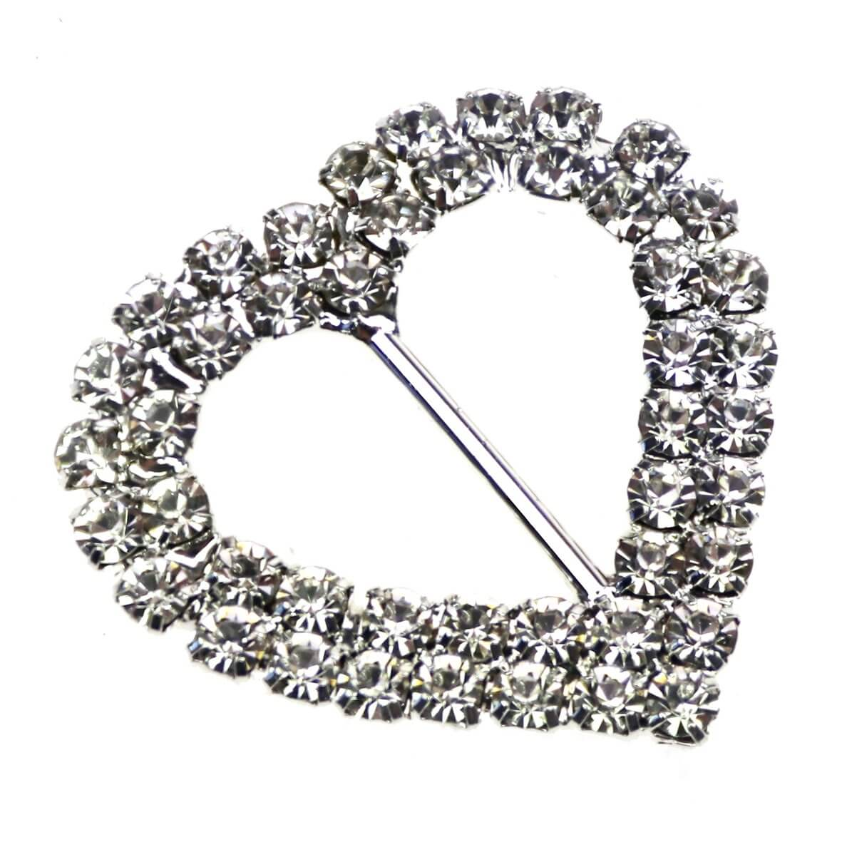 Duo Heart Diamante Buckle (Large)