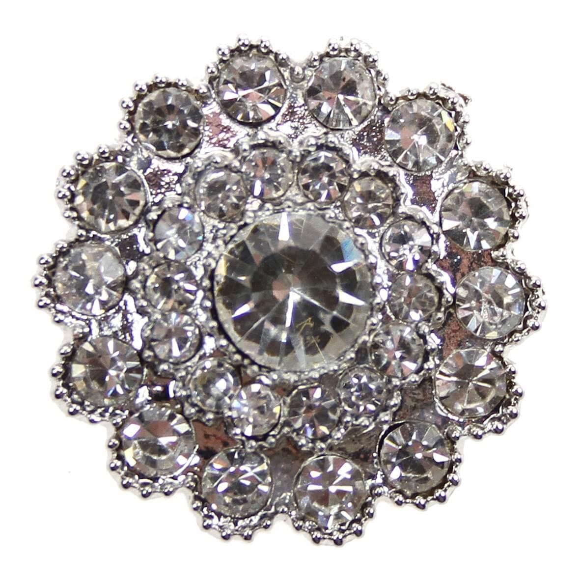 The Blenheim - a circular diamante embellishment