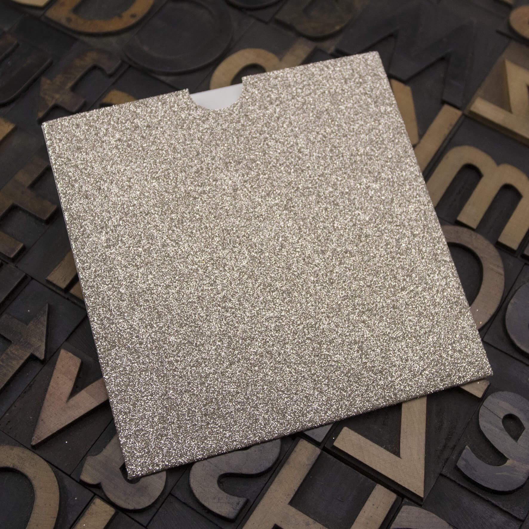Enfolio Wallet 125mm Sq - Champagne Supernova Glitter Card