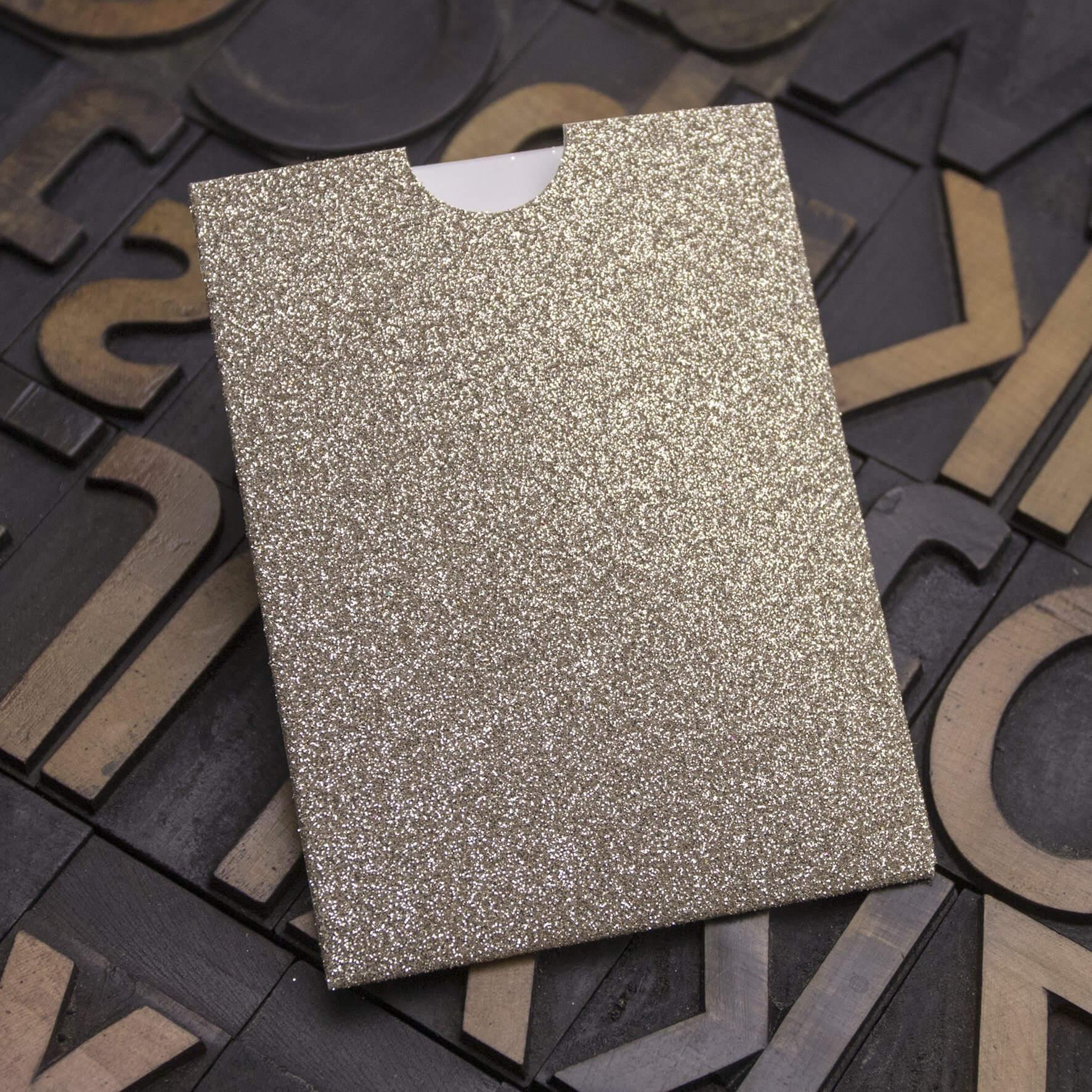 Enfolio Wallet Mini - Champagne Supernova Glitter Card