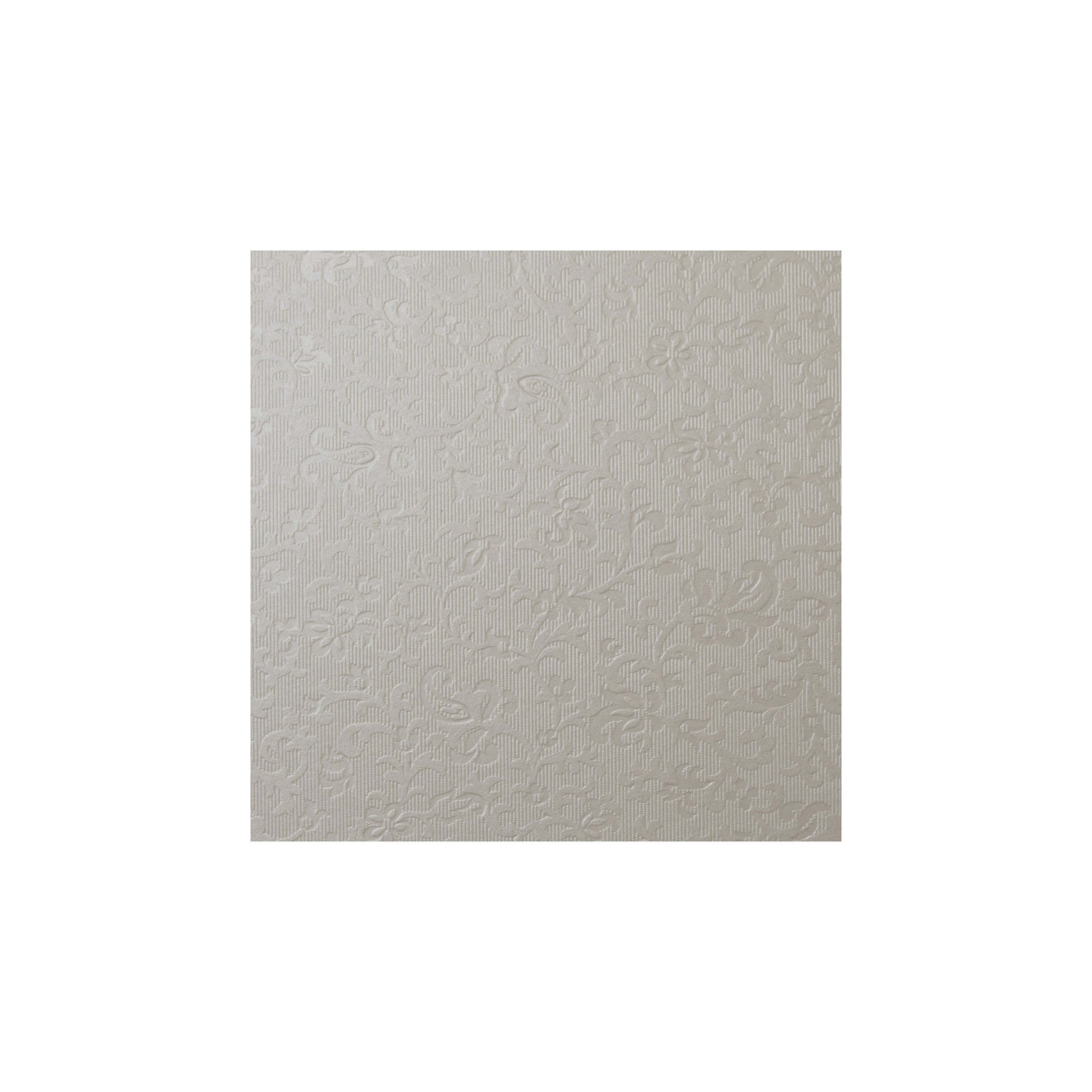 Cardstock 119mm Square - Applique Ivory