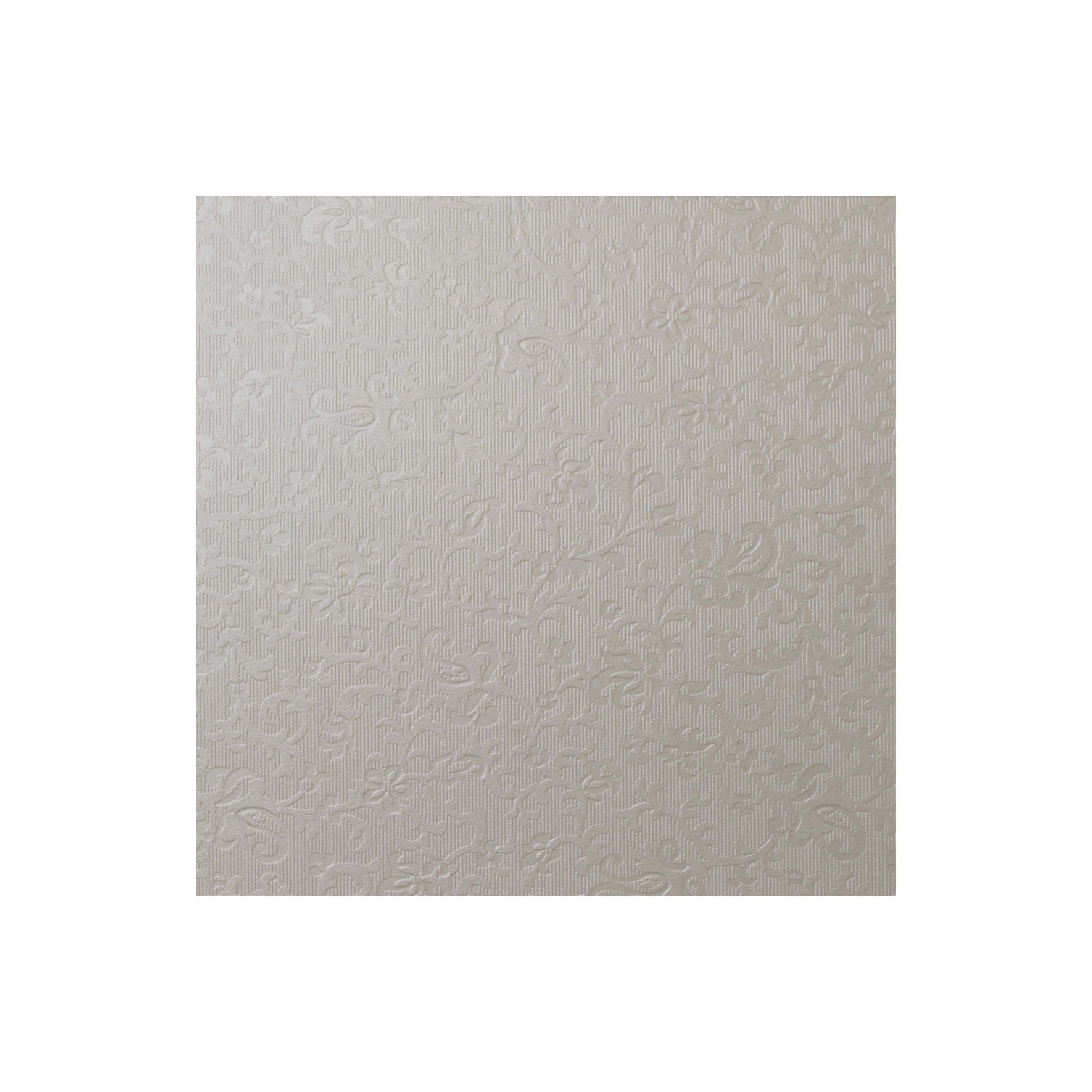 Cardstock 141mm Square - Applique Ivory