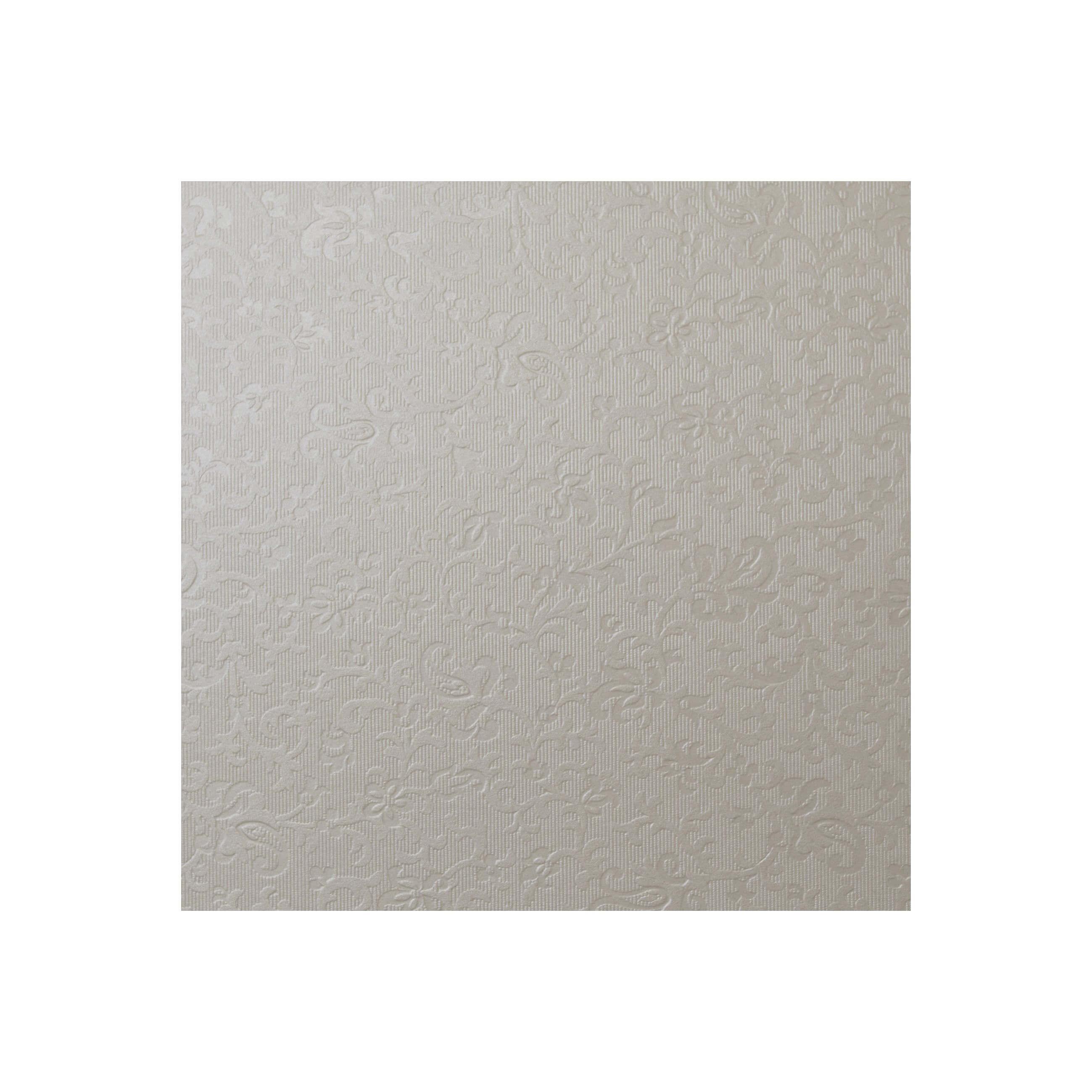 Cardstock 147mm Square - Applique Ivory