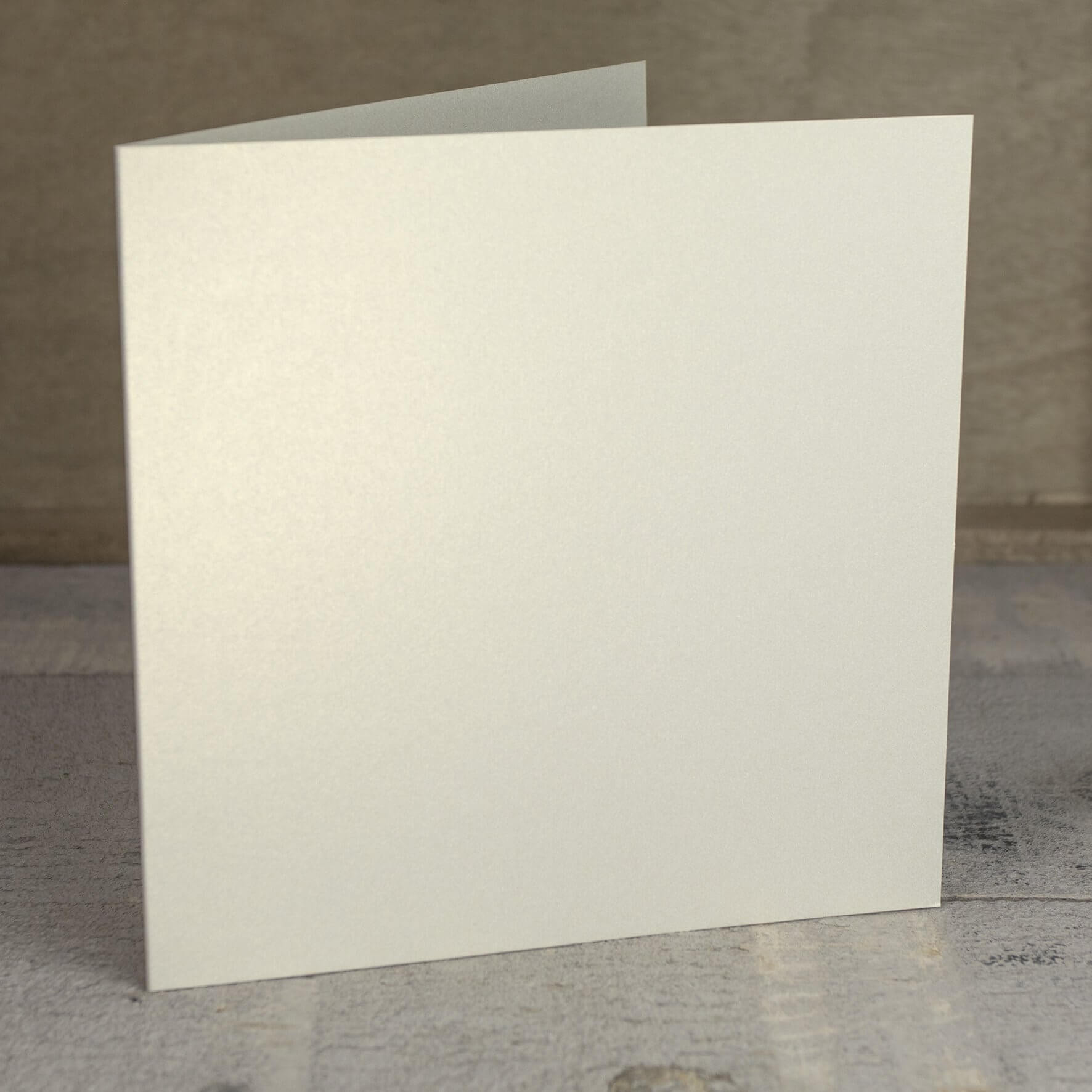 Creased Card Large Square - Vintage Ivory Lustre