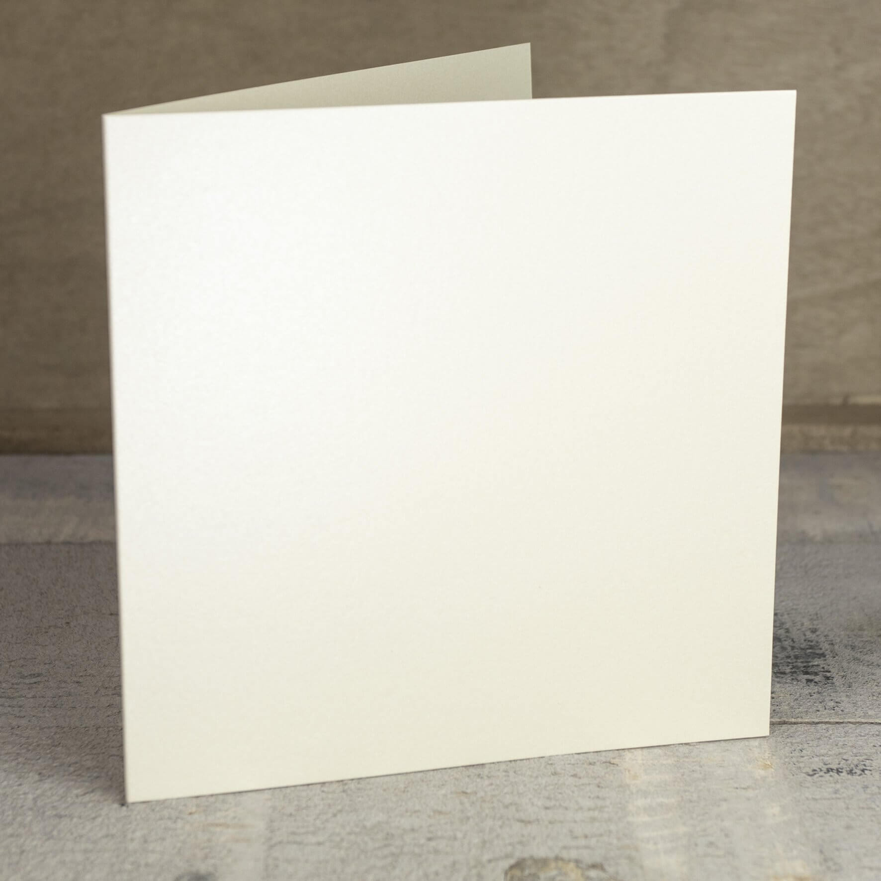 Creased Card Large Square - Vintage Ivory